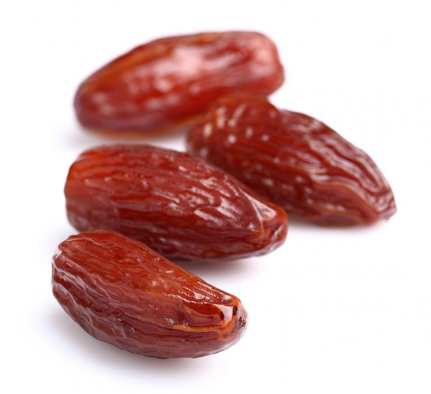 Dates are a type of tropical fruit.