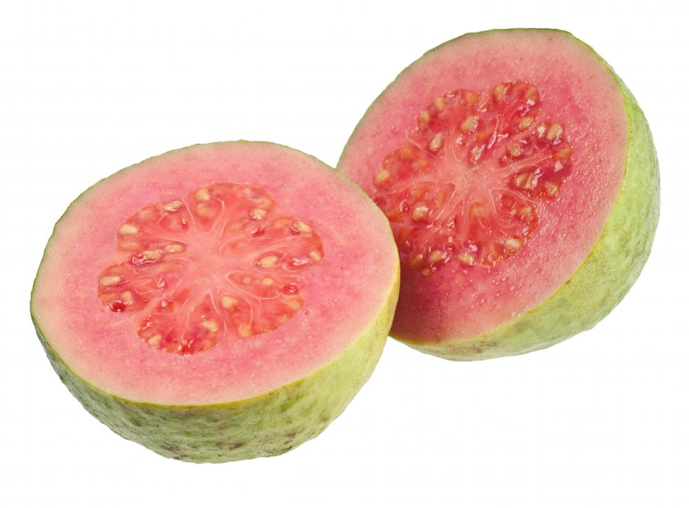 Guavas are well-known tropical fruits.
