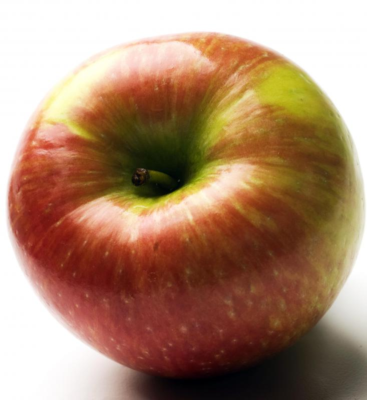 A Honeycrisp apple.