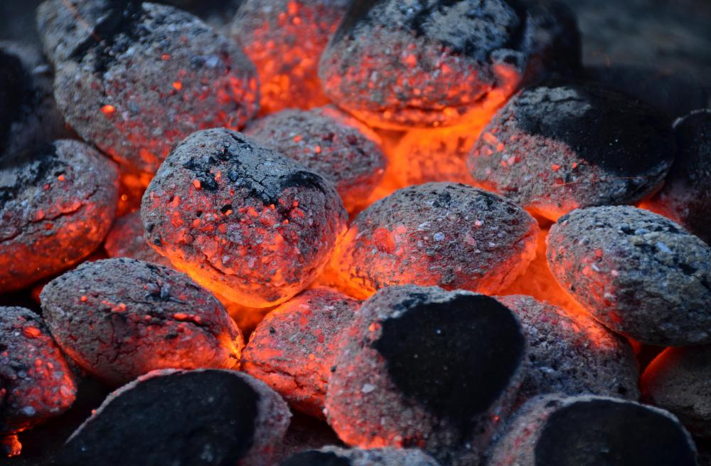Charcoal is often used to provide the heat in a smoker.