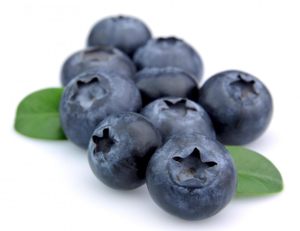 Blueberries, which are often made into buckle.