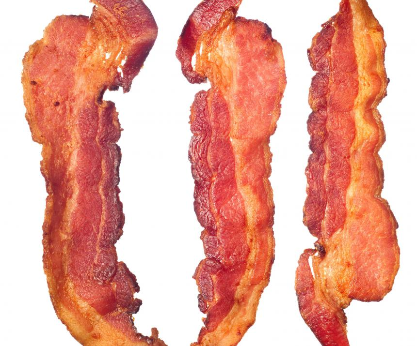 Bacon is commonly used for barding.