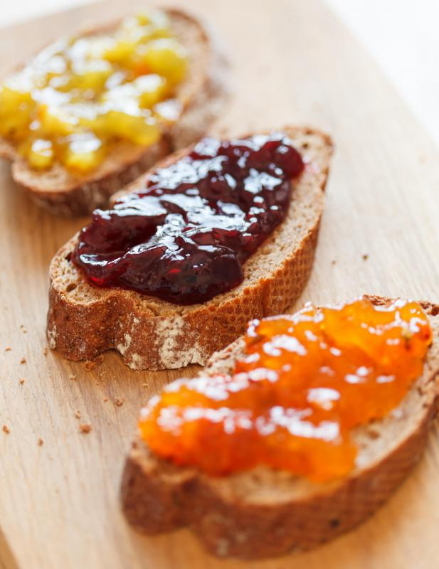 Condiments like jam are a necessary part of an English breakfast.