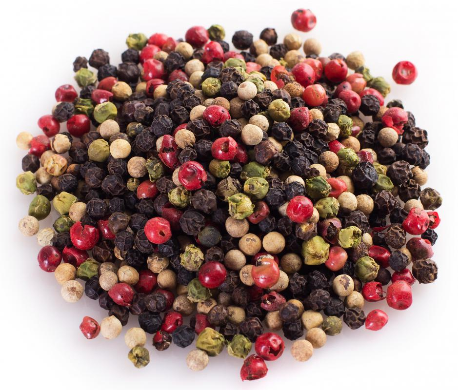 Peppercorns are used in making cornichons.