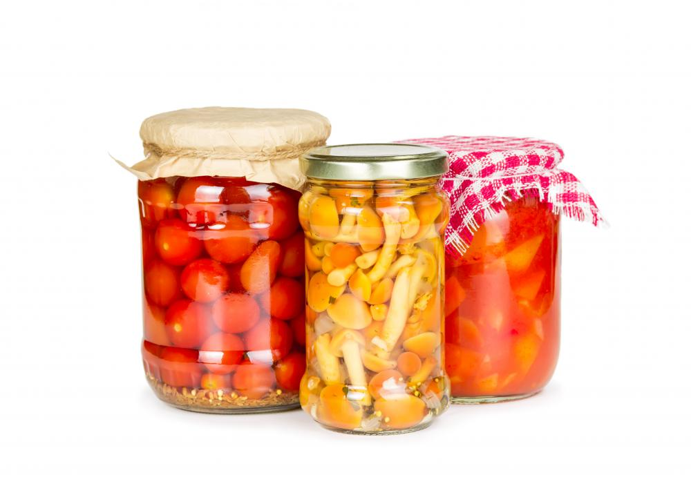 Many people choose glass jars for home canning.