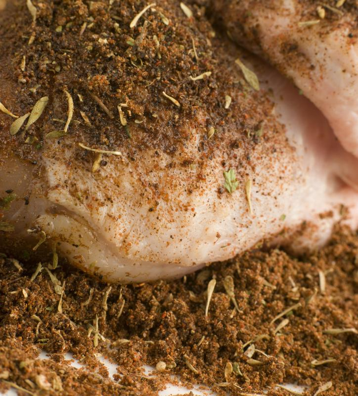 Dry rubs are frequently used on barbeque chicken and other meats.