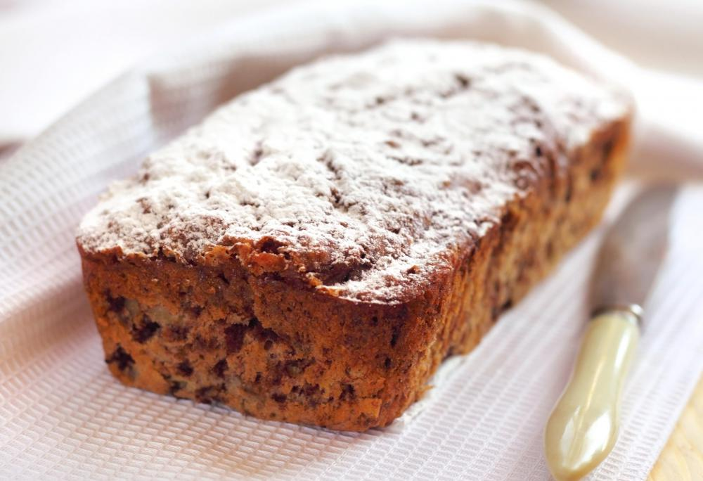 Fruit cake is a traditional Christmas dessert.