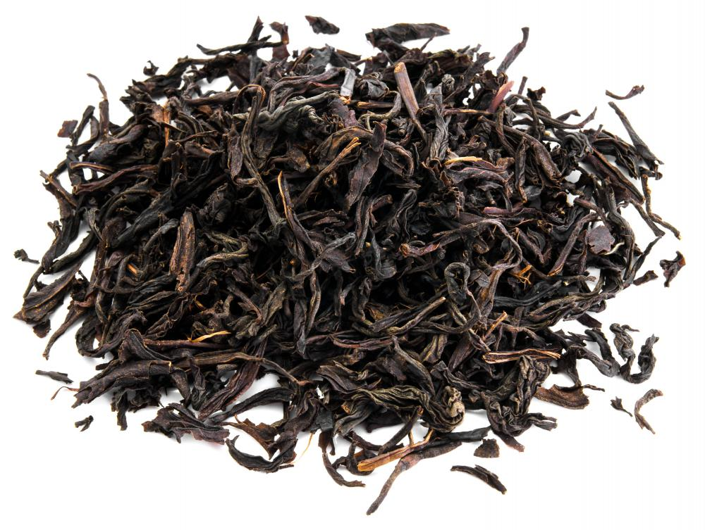 A small pile of loose Ceylon tea.