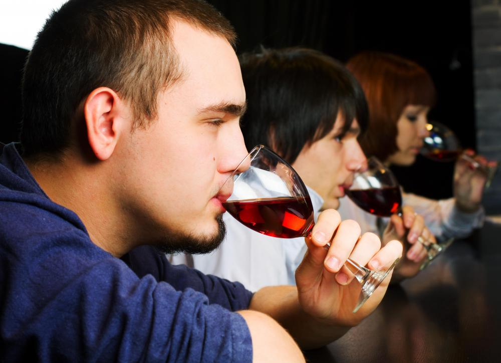 Sommeliers may host a wine tasting to show off newly acquired vintages.
