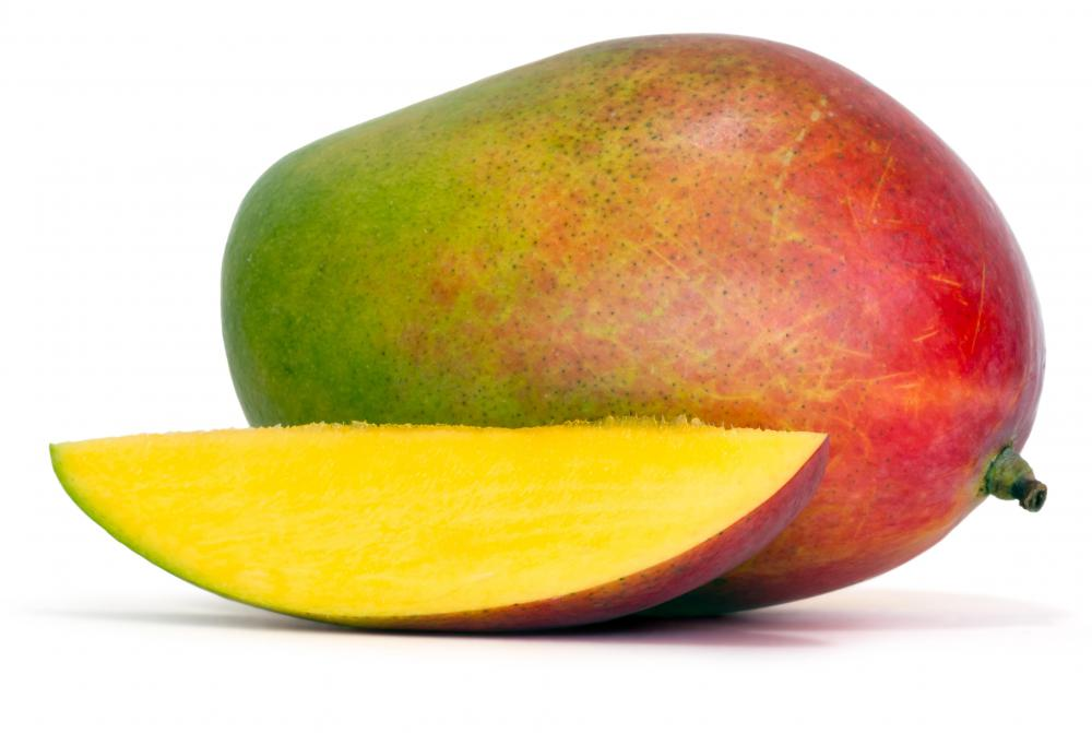 Fresh mango is used in the making of mango sticky rice desert.