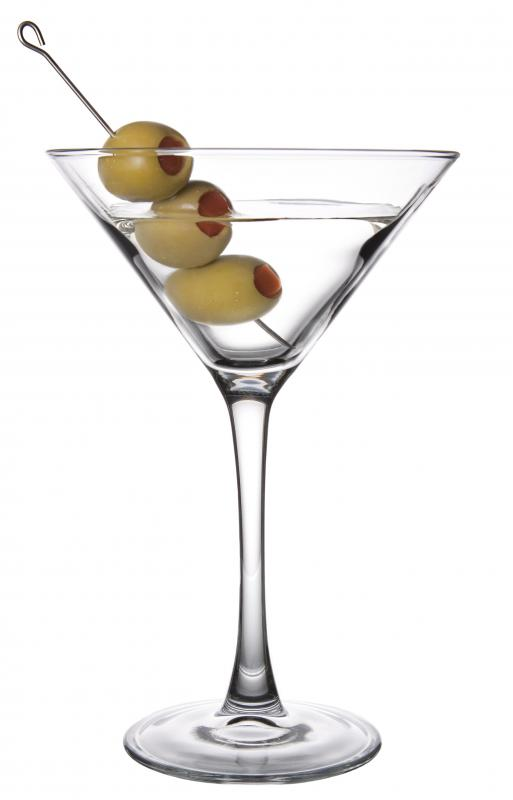 A dirty martini includes a bit of juice from the olives.