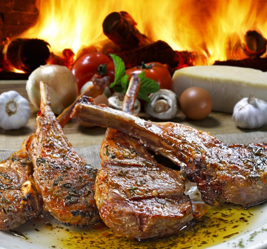 In Greece, cooks often marinate lamb chops in creamy Greek yogurt and spices before grilling them.
