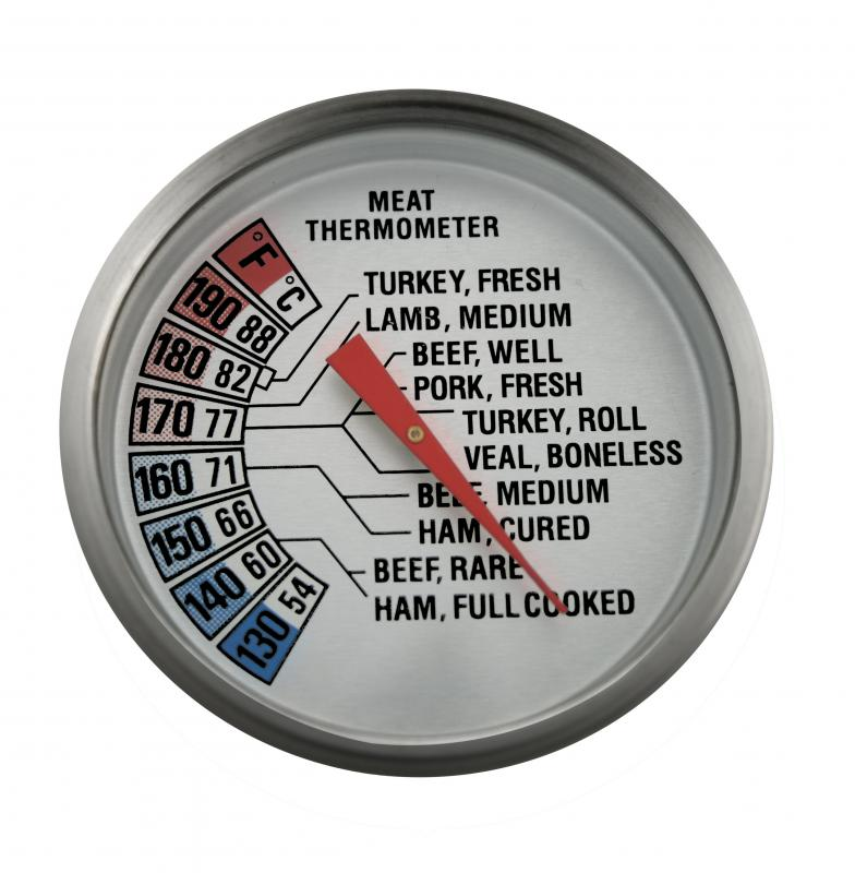 When cooking a meat in a slow cooker, use a meat thermometer to confirm it has reached an appropriate internal temperature.