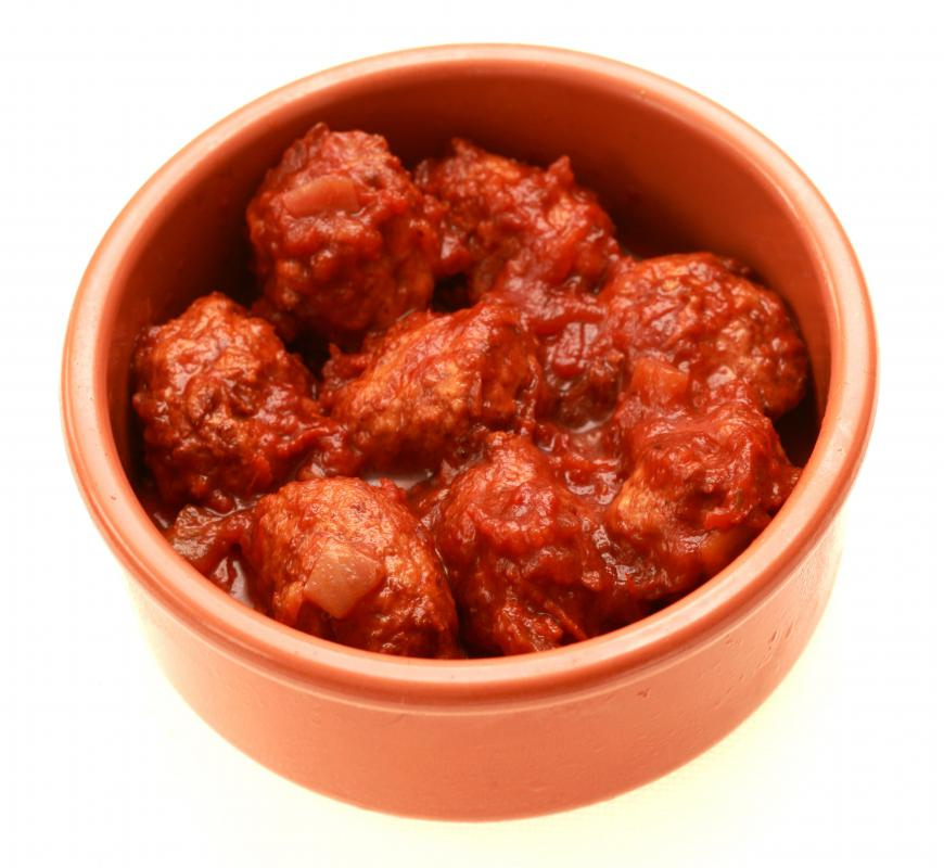 Meatballs made with ground beef.