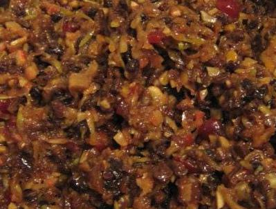Mincemeat is used for traditional pies.