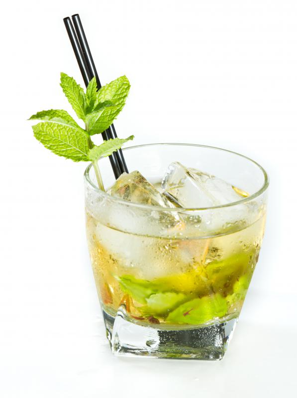 Mint juleps typically use sugar syrup.
