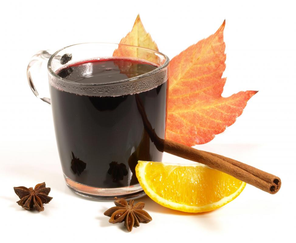 Mulled wine is often spiced with nutmeg.