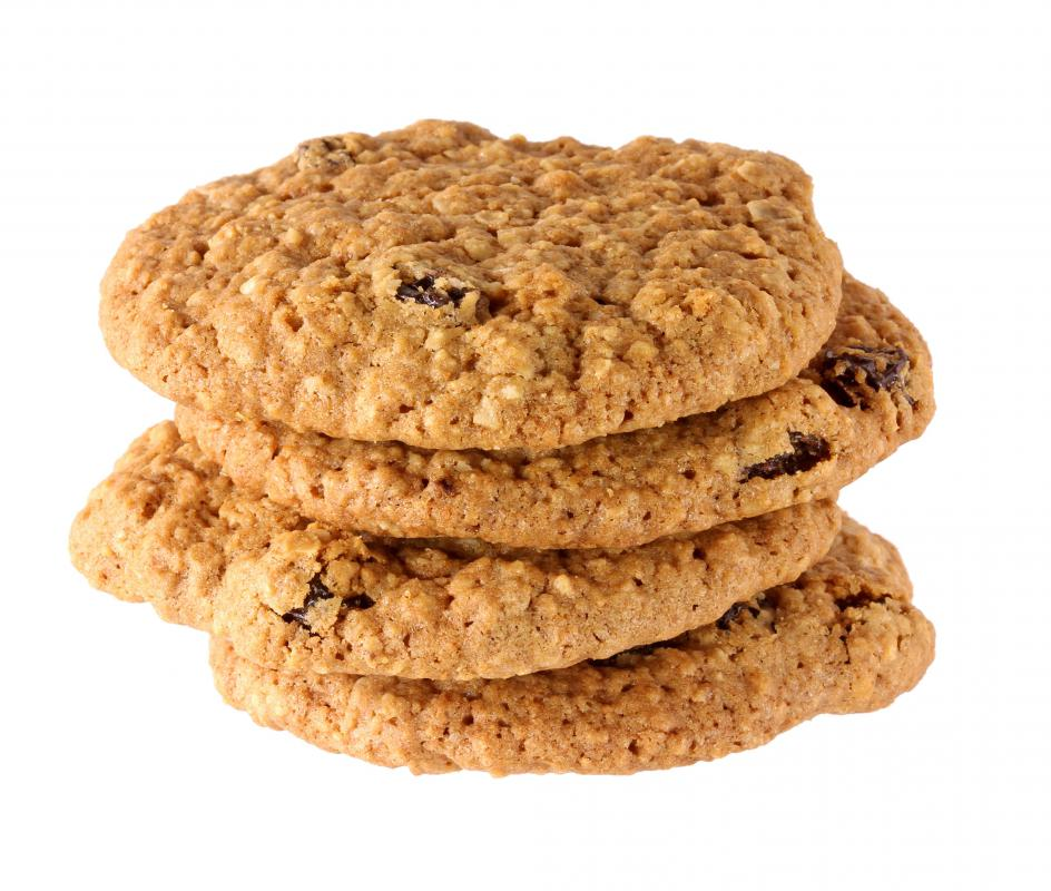 Oatmeal cookies can be made with oat flakes.