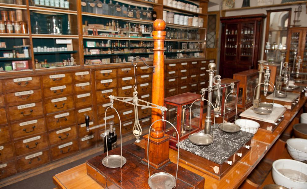 Alchemists used a double-boiler to heat chemicals for experiments.