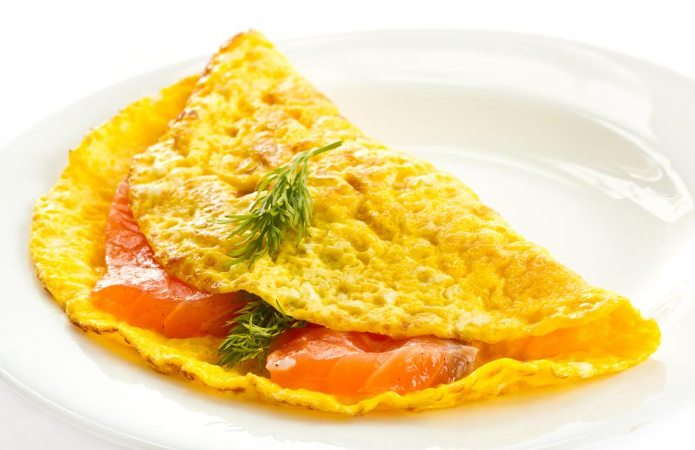 Omelets may be featured at a buffet.