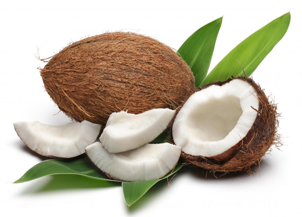 Coconut oil is extracted from the meat of a coconut.
