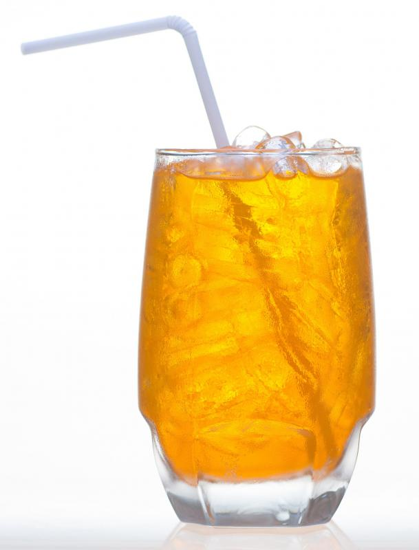 Thai tea is a sweetened iced tea.