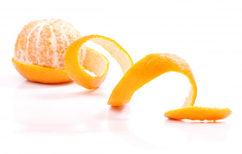 Orange peels are sometimes included in marmalade.