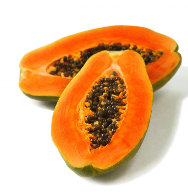 Papaya is a type of tropical fruit.