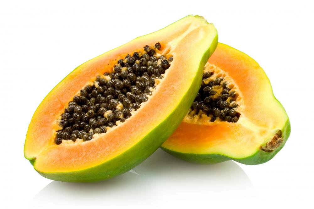 Papaya is rich in many vitamins.