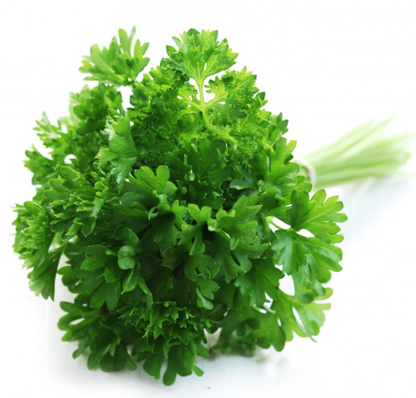 Parsley is often added to smashed potatoes.