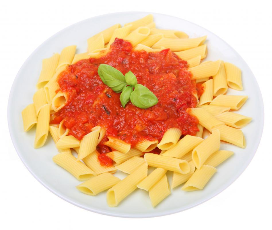 The ends of penne pasta are angled like a pen.