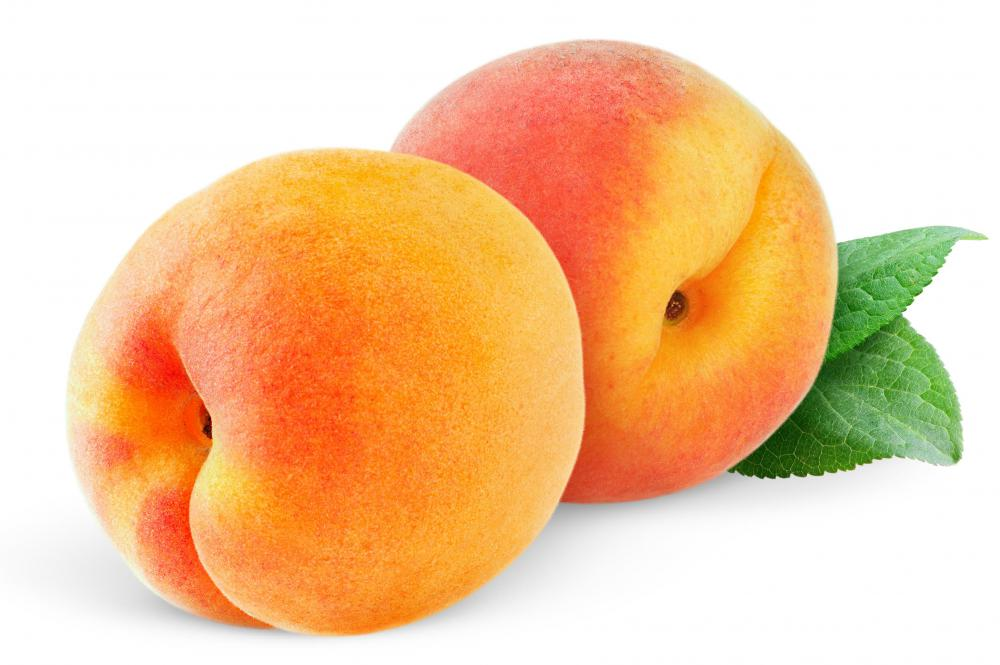 Nearly any fruit, including peaches, can be used in a buckle.
