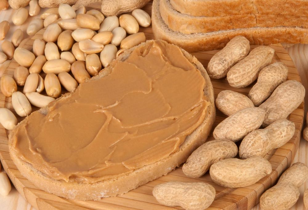 Peanut butter is a popular sweet spread.