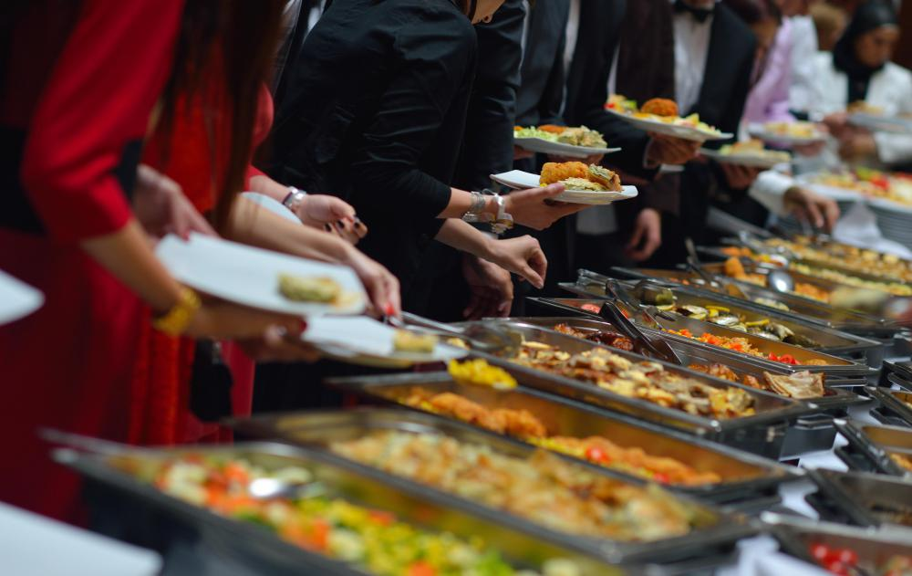 Buffet-style restaurants are part of the food service industry.