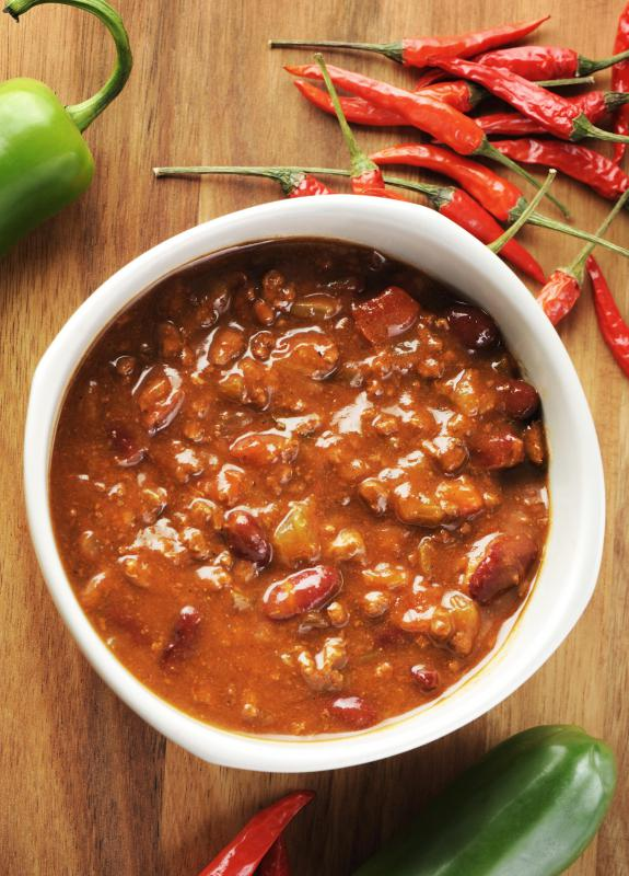 Many chili recipes call for some type of red chile pepper as an ingredient.