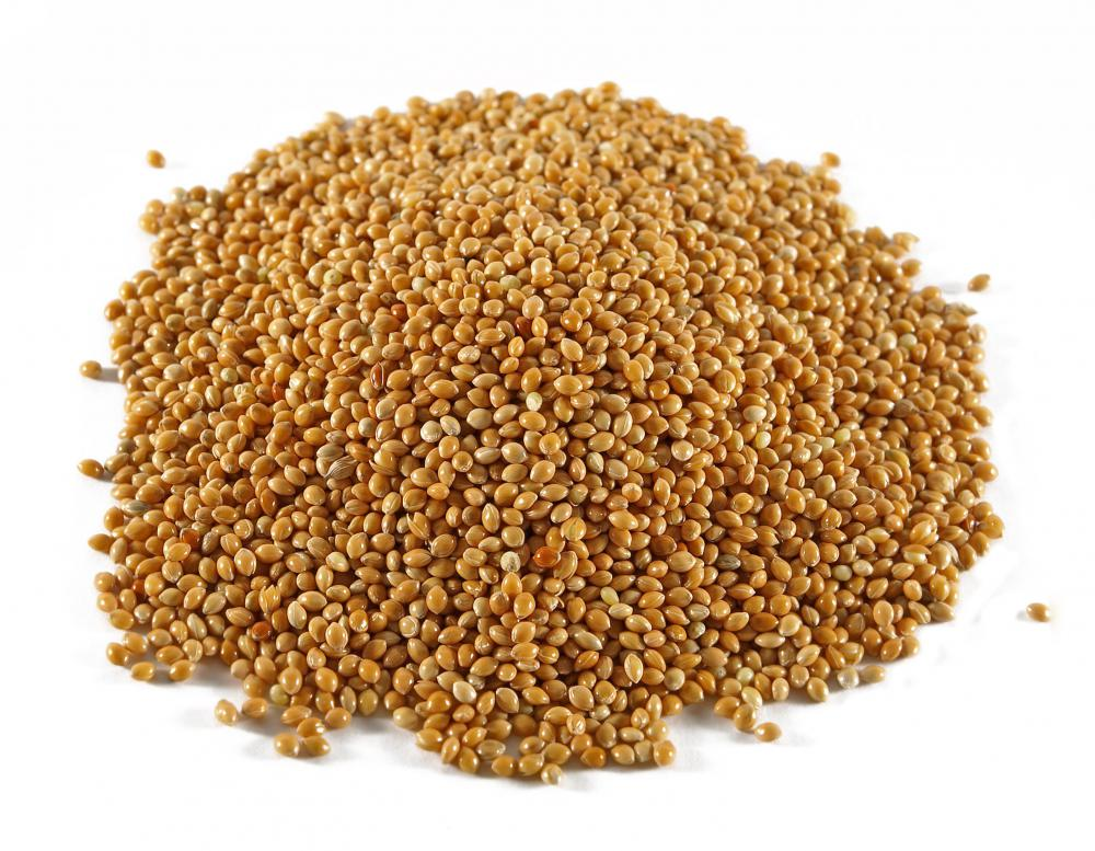 Sorghum is one of the grains that can be used to produce black vinegar.