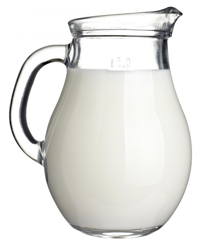 Milk, which is used to make kefir.