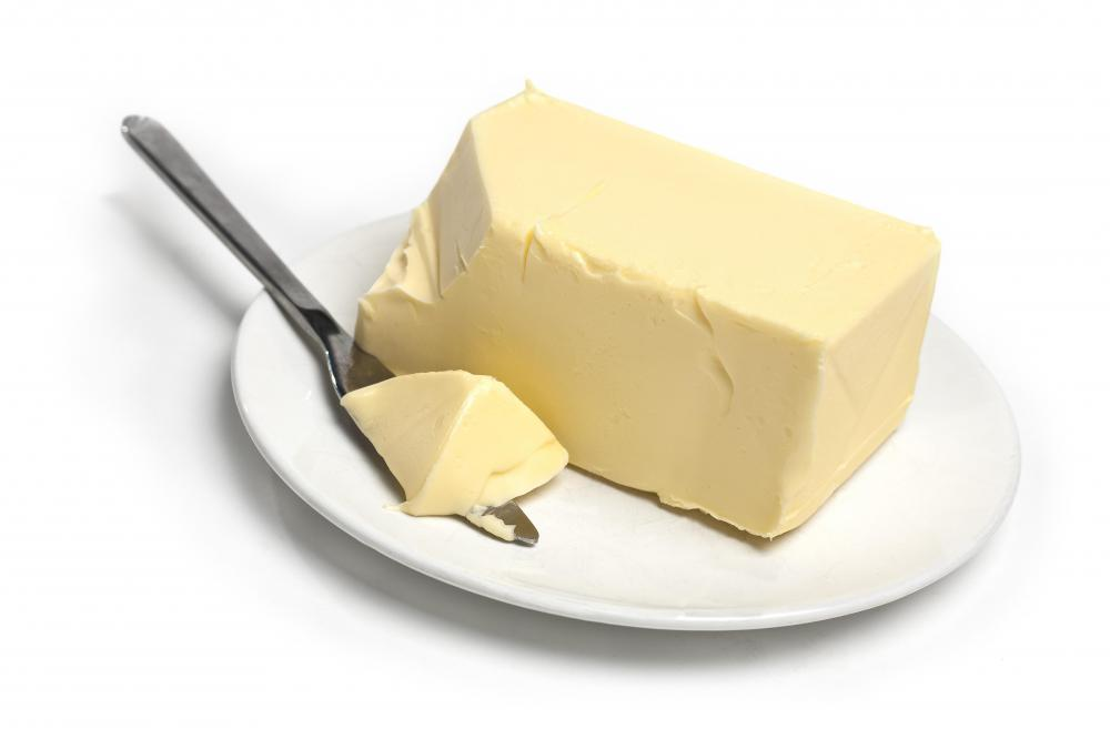 Butter, the main ingredient in buttercream.