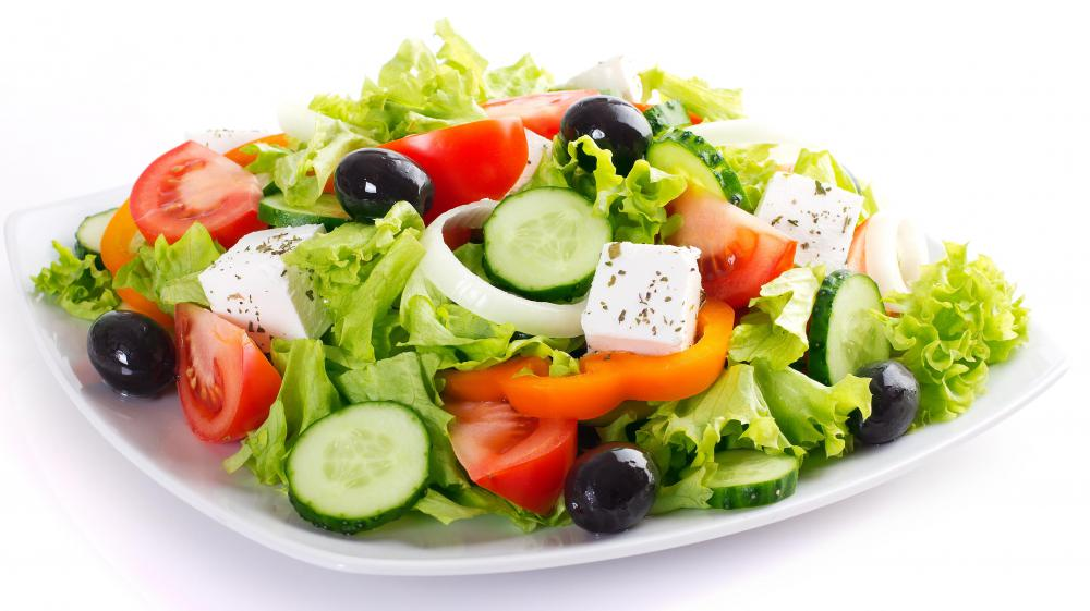 Extra virgin olive oil offers a healthy way to make a tasty salad dressing.