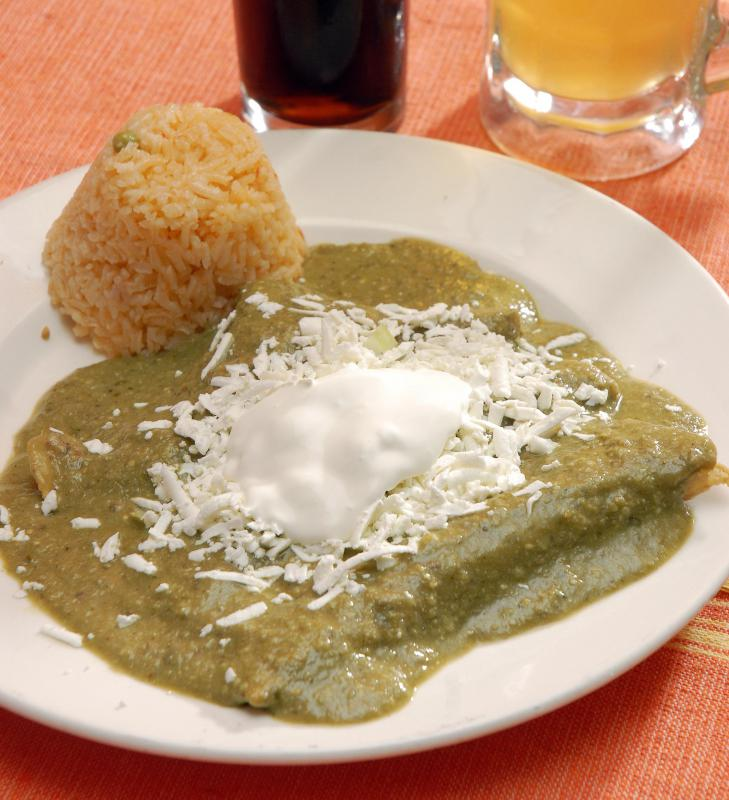 Crema Mexicana is often served as a topping to a dish, like enchiladas.