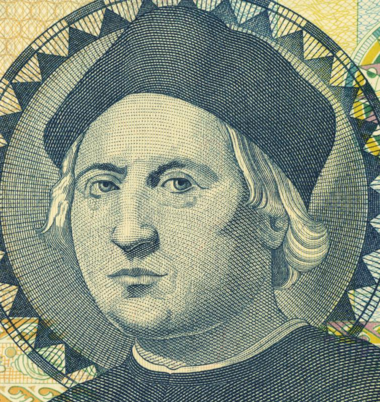 A portrait of Christopher Columbus, who introduced the cayenne pepper to Europe.