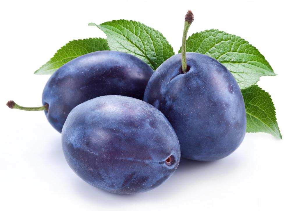 Fresh prune or plum.