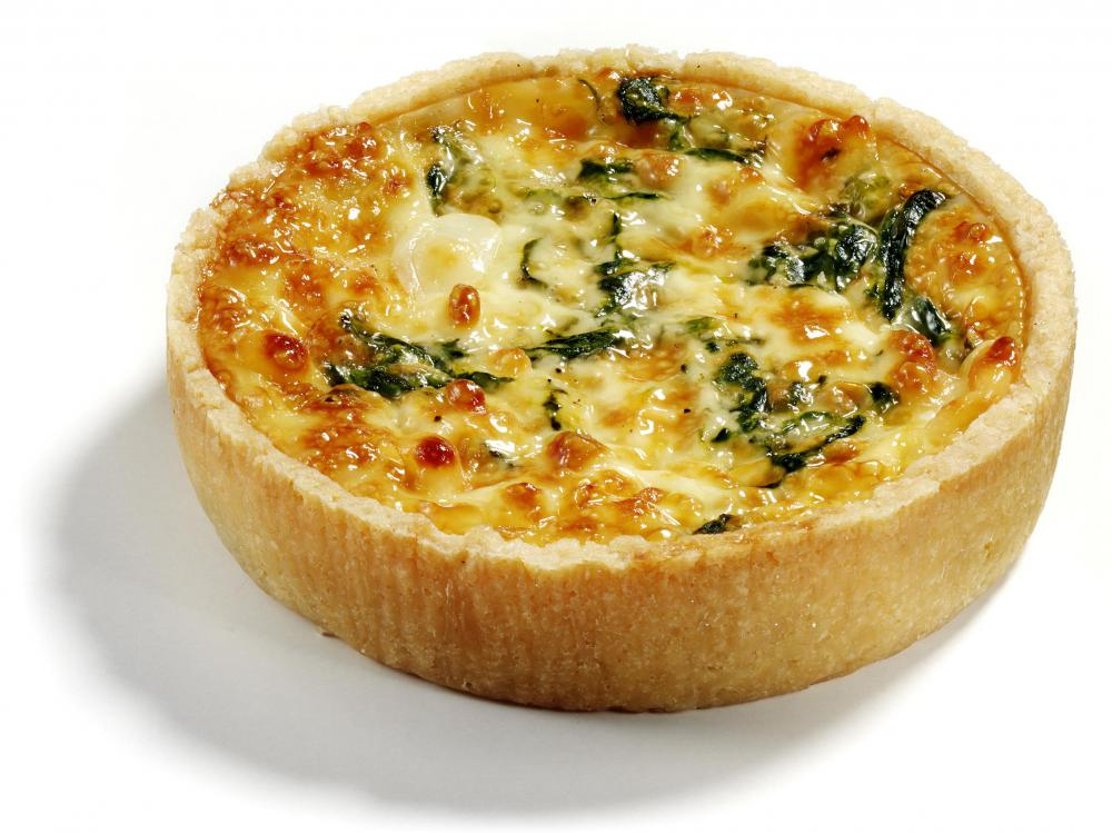Spinach adds color and flavor to quiche recipes.