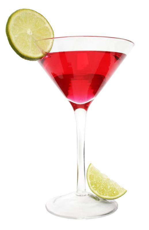 Some cocktails get their red color from grenadine.