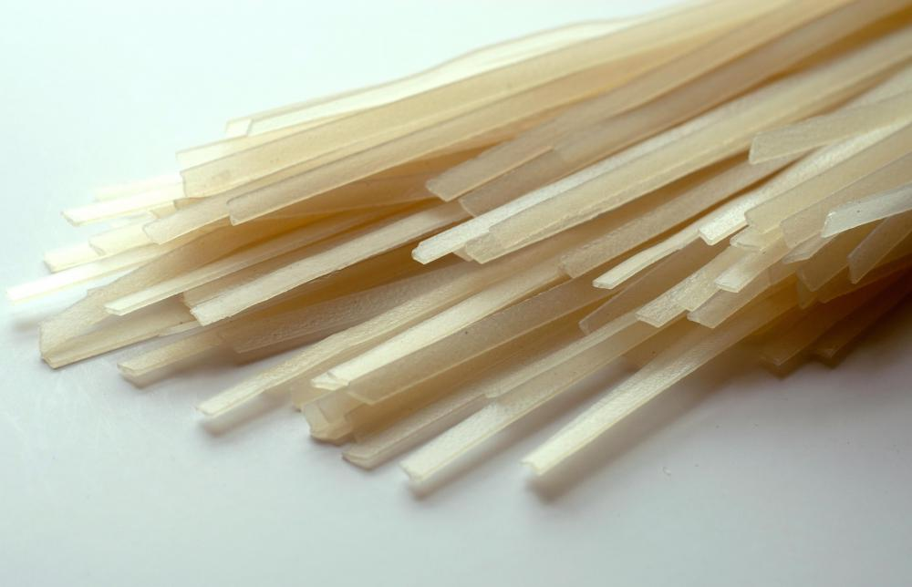 Rice noodles are used to make some variations of pancit.