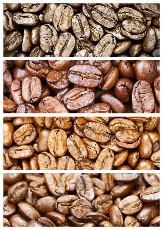 Coffee beans must be roasted before being ground.