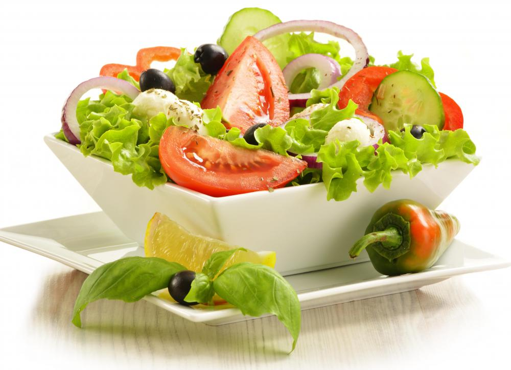Salad is believed to aid in digestion.