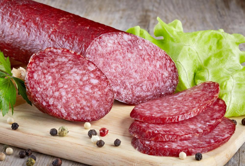 Salami is a cured sausage.
