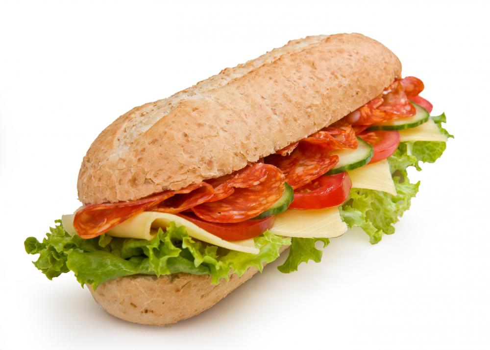 Cold cuts are typically used in sub sandwiches.