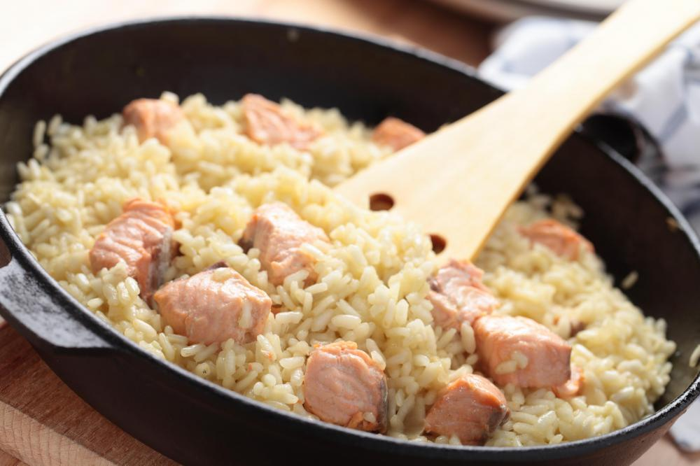 Arborio is a short to medium grained rice used to make risotto.